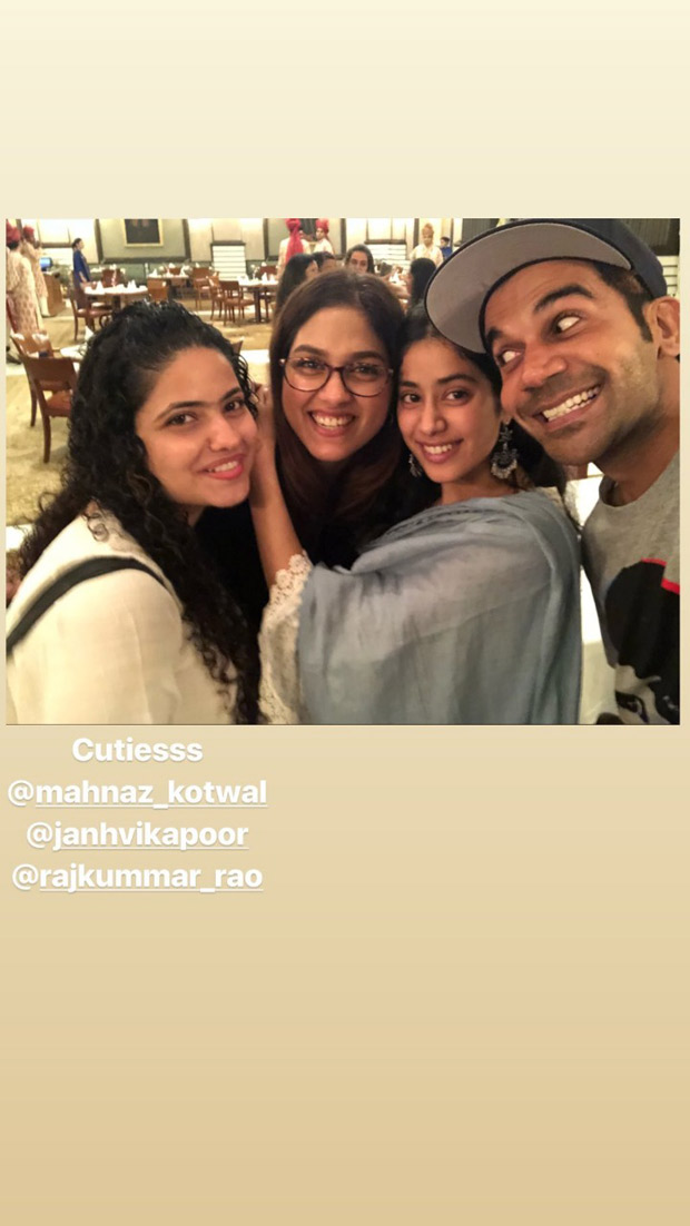 Janhvi Kapoor and Rajkummar Rao are happy souls after wrapping the Agra schedule of RoohiAfza