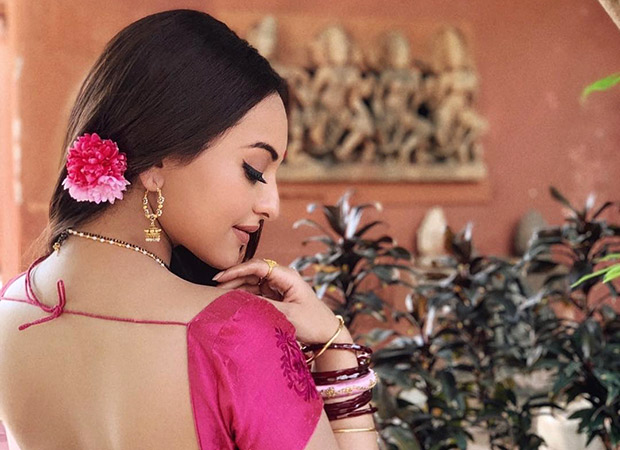 Sonakshi Sinha begins the next schedule of Dabangg 3 on a floral note!