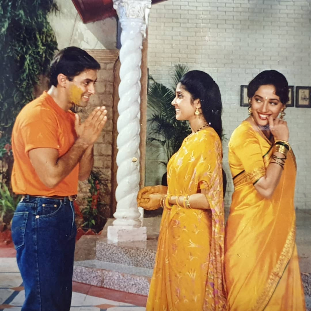 25 Years Of Hum Aapke Hain Koun: Madhuri Dixit, Renuka Shahane and Anupam Kher relive the gold old times with Salman Khan