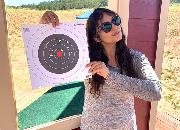 Huma Qureshi is preparing herself for Zack Snyder's Army Of The Dead by practicing rifle shooting!
