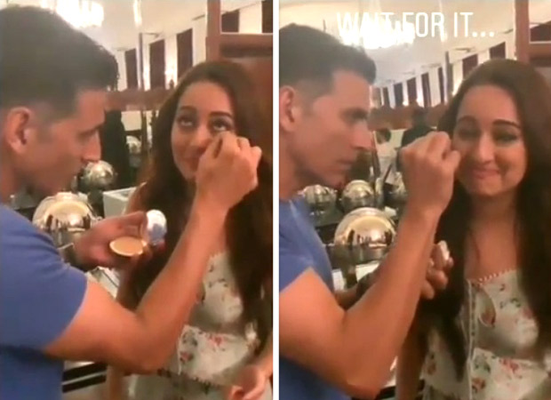 Mission Mangal: This video of Akshay Kumar turning make-up artist for Sonakshi Sinha is hilarious
