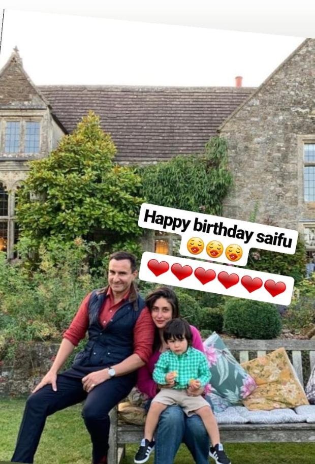 PHOTO ALERT: Saif Ali Khan celebrates his 49th birthday with Kareena Kapoor Khan and Taimur Ali Khan in London
