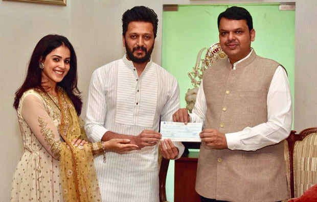 Riteish Deshmukh and Genelia D'souza donate Rs 25 lakh for Maharashtra Floods relief fund