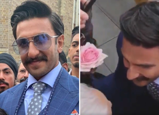 VIDEO: Ranveer Singh receives a rose from an elderly woman at Southall, his response is adorable