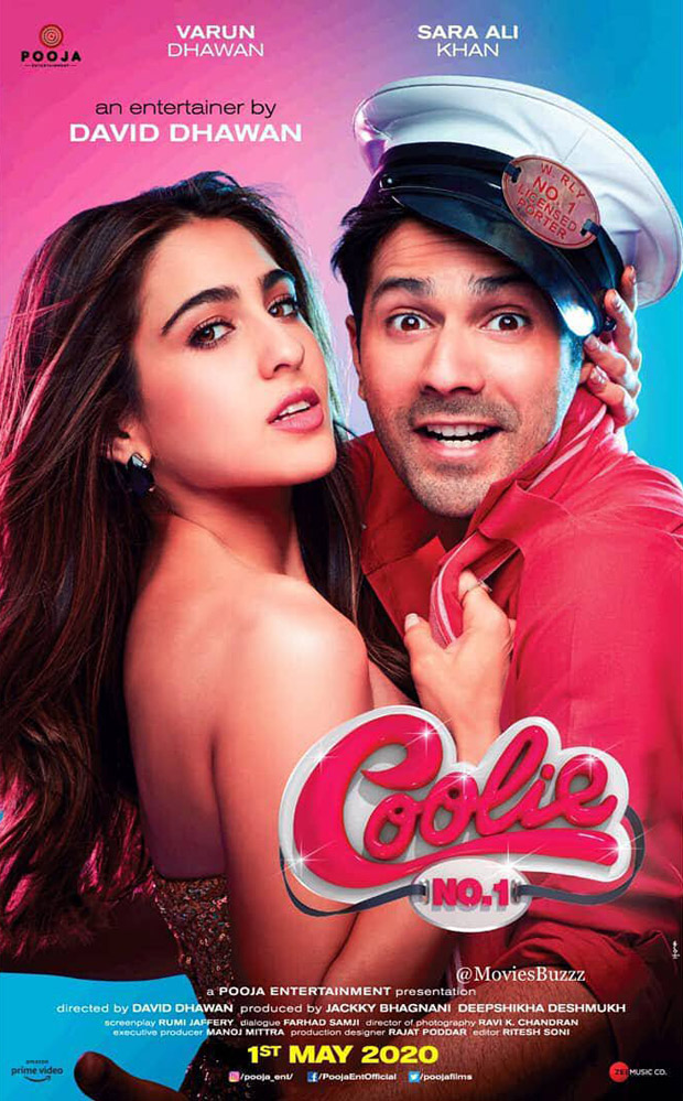 FIRST LOOK: Varun Dhawan and Sara Ali Khan make a quirky pair in this poster reveal of Coolie No 1