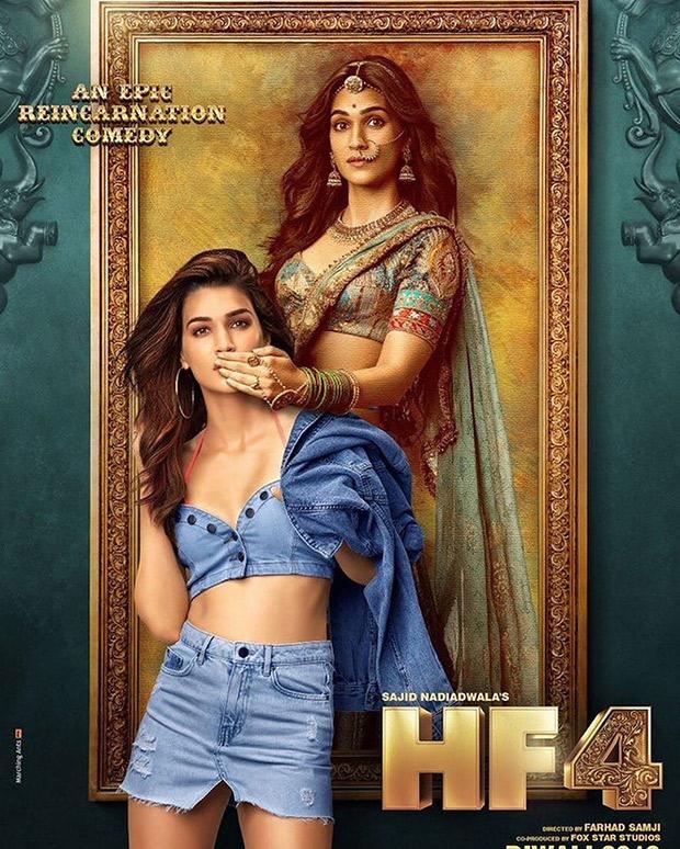 Kriti Sanon looks dreamy as Rajkumari Madhu and Kriti from London in these posters of Housefull 4!