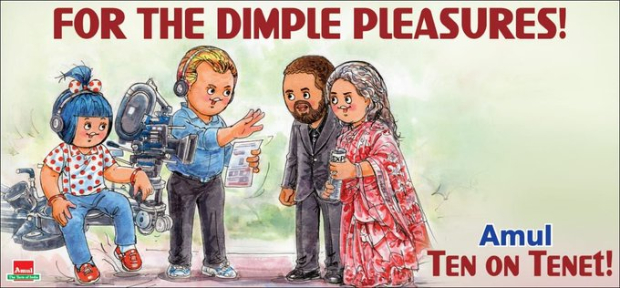 Christopher Nolan's Tenet gets a Amul Topical tribute, features Dimple Kapadia and John David Washington