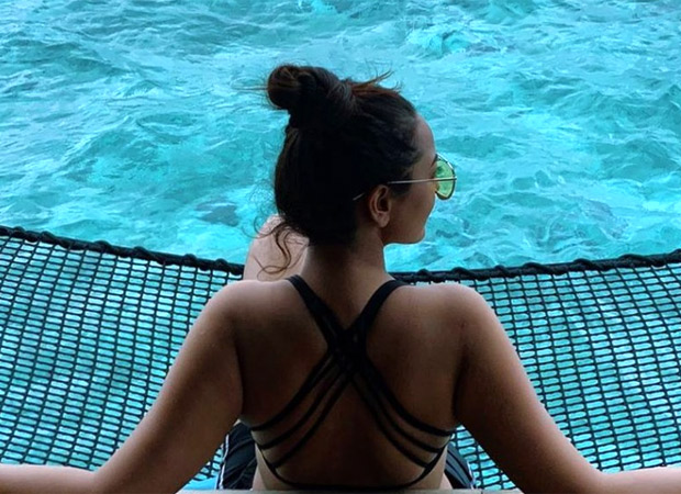 HOT! Sonakshi Sinha goes backless with a bralette in Maldives!