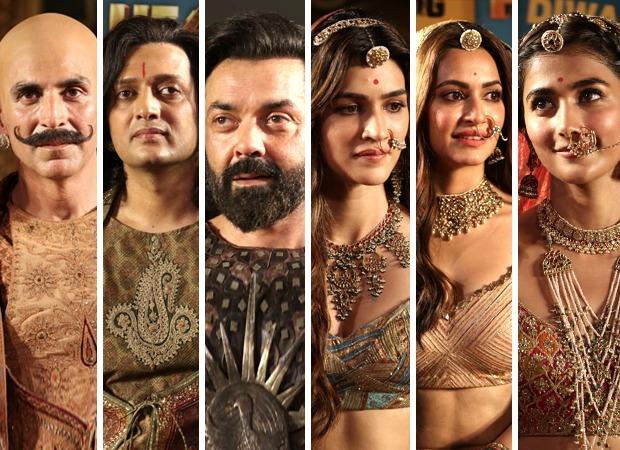 Housefull 4 Trailer Launch Akshay Kumar, Riteish Deshmukh, Bobby Deol, Kriti Sanon, Kriti Kharbanda and Pooja Hegde transform into their 1419 era characters