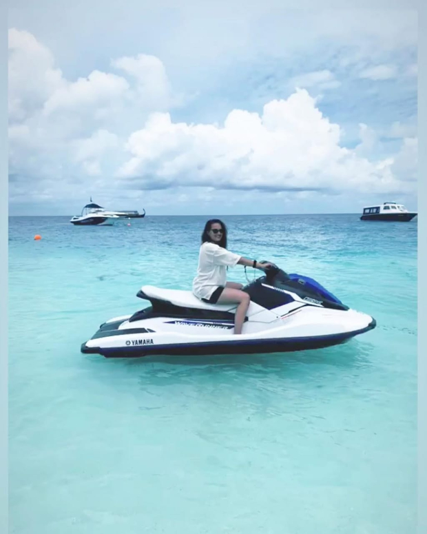 Photos & Videos: Sonakshi Sinha Learns To Drive A Speed Boat During Her Maldives Vacation