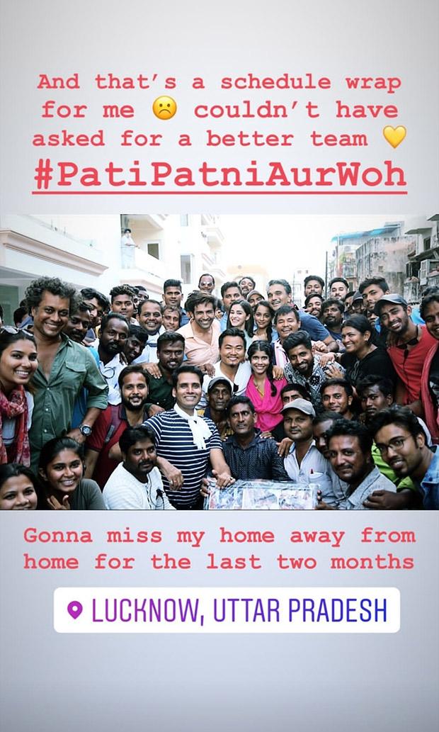 Pati Patni Aur Woh: Kartik Aaryan Dances On Coca Cola, Ananya Panday Wraps Up Lucknow Schedule