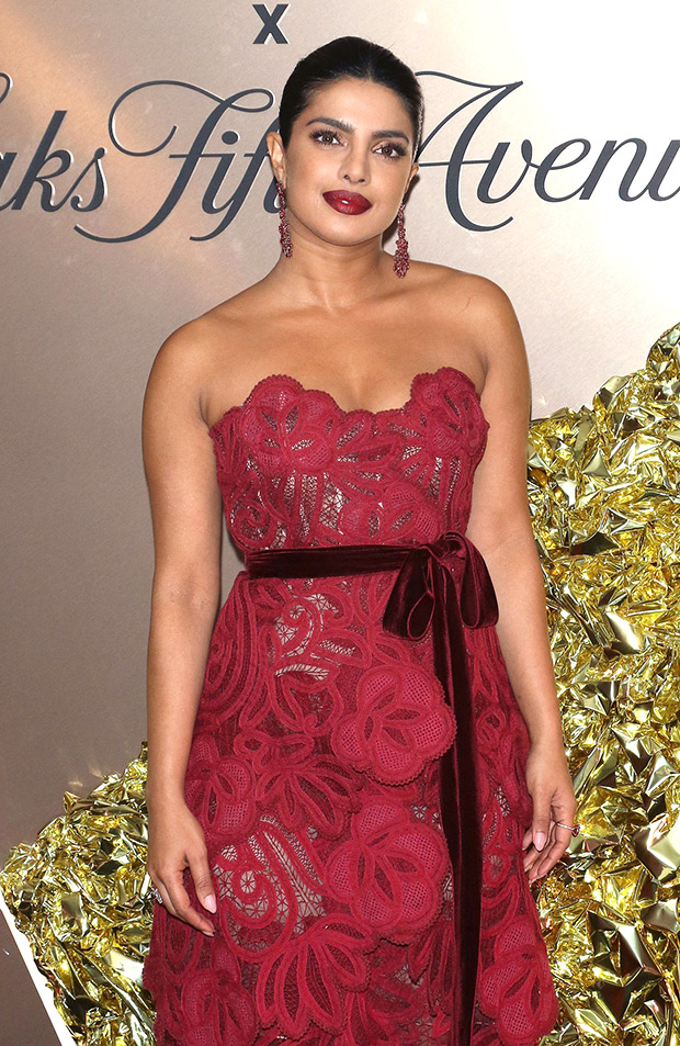 Priyanka Chopra turns up the heat in red hot avatar after being named in Vanity Fair's Best Dressed 2019 list