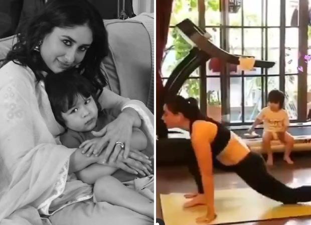 Video: Taimur Ali Khan Adorably Watching Kareena Kapoor Khan Working Out Is Too Cute