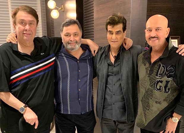Rishi Kapoor receives a 'warm welcome' from friends Rakesh Roshan and Jeetendra upon his return