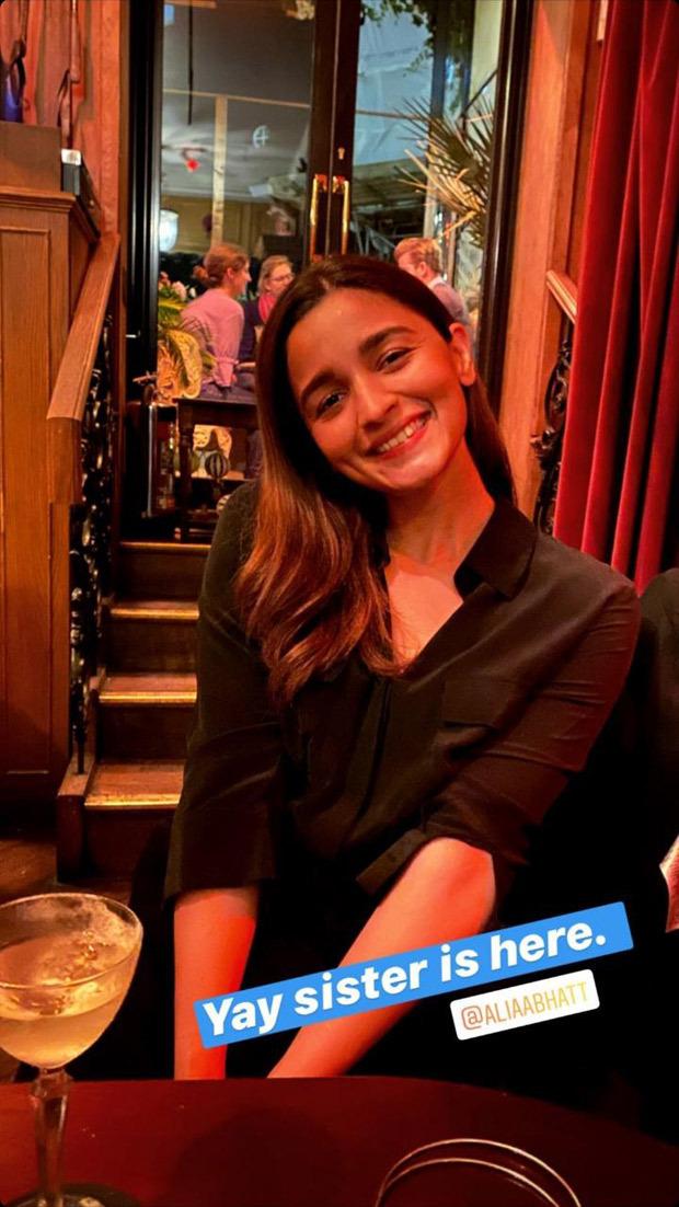 Alia Bhatt joins her sister Shaheen Bhatt in London