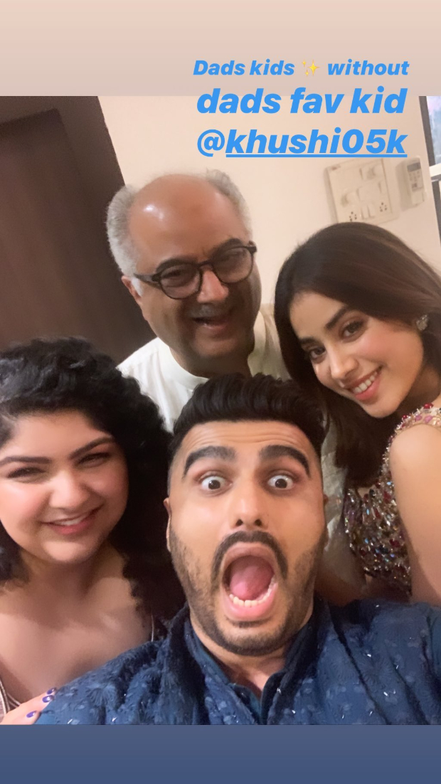 Khushi Kapoor Is Missing In This Fun Filled Family Picture That Janhvi Kapoor Posted!