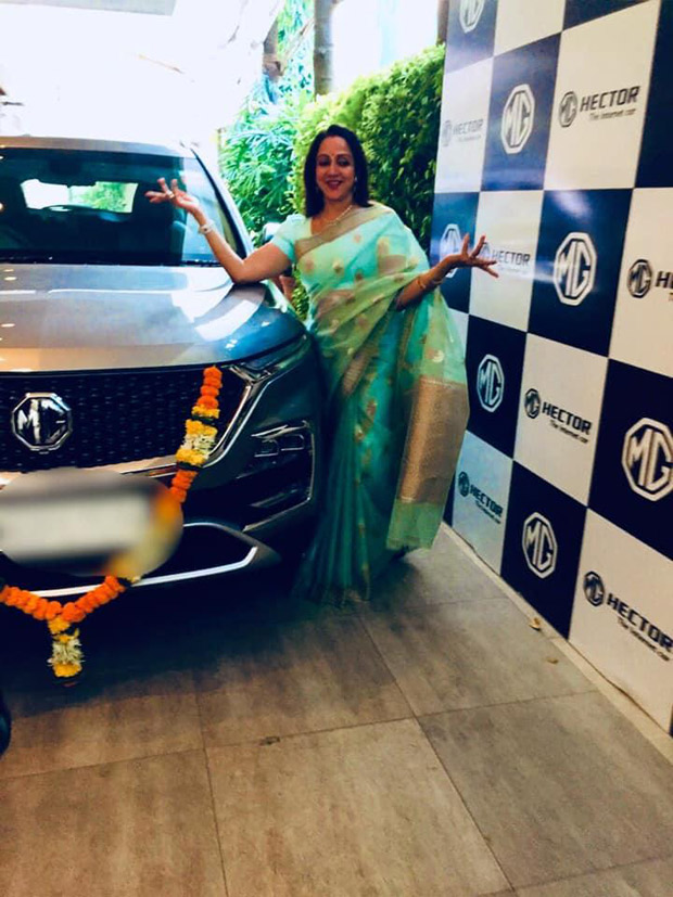 Hema Malini Acquires A New Set Of Wheels With The Mg Hector