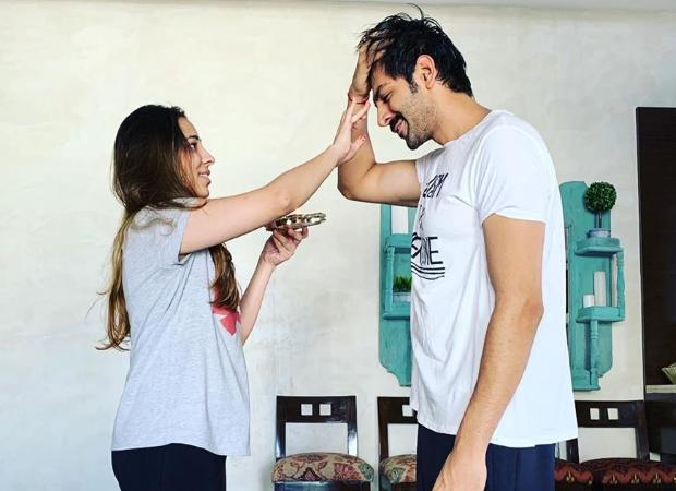 Kartik Aaryan celebrating Bhai Dooj with his sister is literally every brother ever!