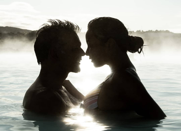 Milind Soman and Ankita Konwar look oh-so-in-love as they enjoy the blue lagoon in Iceland