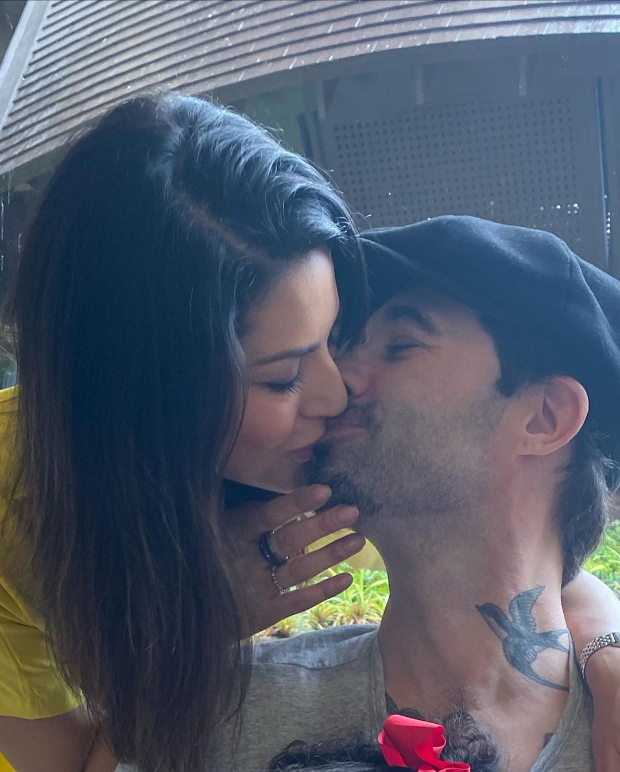 Sunny Leone Gives A Sweet Kiss To Husband Daniel Weber On His Birthday