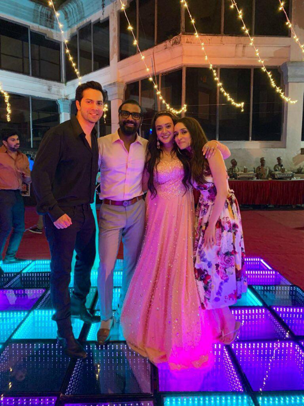Varun Dhawan and Shraddha Kapoor join Street Dancer 3D director Remo D'souza and wife Lizelle as they renew their wedding vows