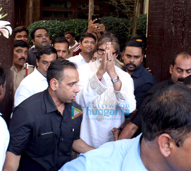 Amitabh Bachchan Meets Fans Outside His Residence On 77th Birthday, See Photos
