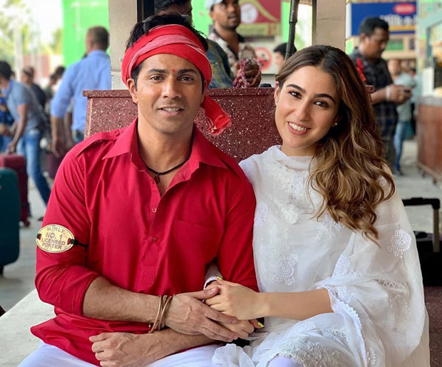 Coolie No 1: Varun Dhawan and Sara Ali Khan make an adorable pair in this new photo