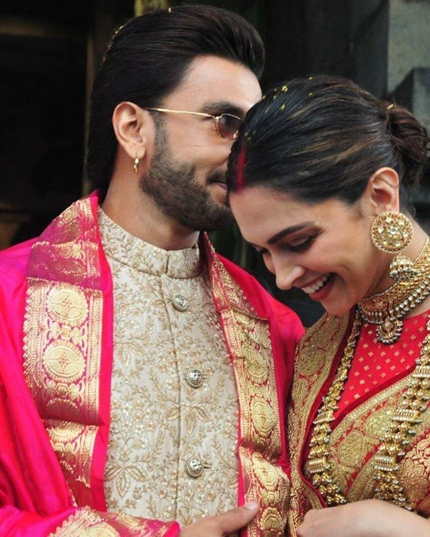 Happy Anniversary Deepveer: Ranveer Singh And Deepika Padukone Look Regal As Ever As They Twin In Regal And Gold Outfits During Tirumala Temple Visit