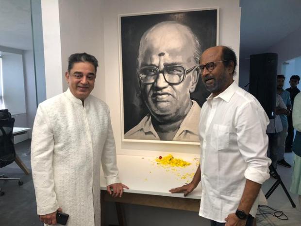 Kamal Haasan and Rajinikanth pay tribute to their mentor, unveil K Balachander's statue in Chennai