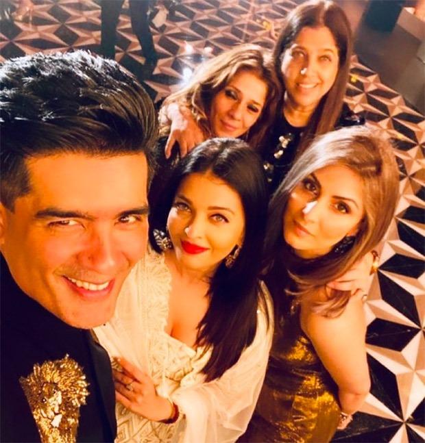 Karan Johar, Karisma Kapoor, Aishwarya Rai Bachchan, Shweta Bachchan Nanda celebrate Natasha Nanda's 50th birthday