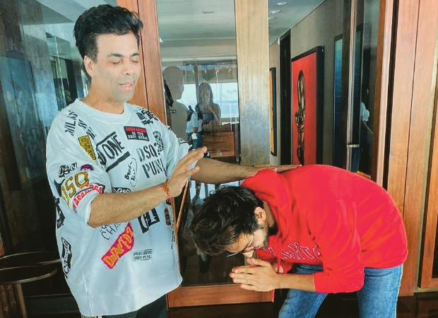 Kartik Aaryan Takes Karan Johar's 'ashirwaad' As He Heads To Chandigarh For Dostana 2