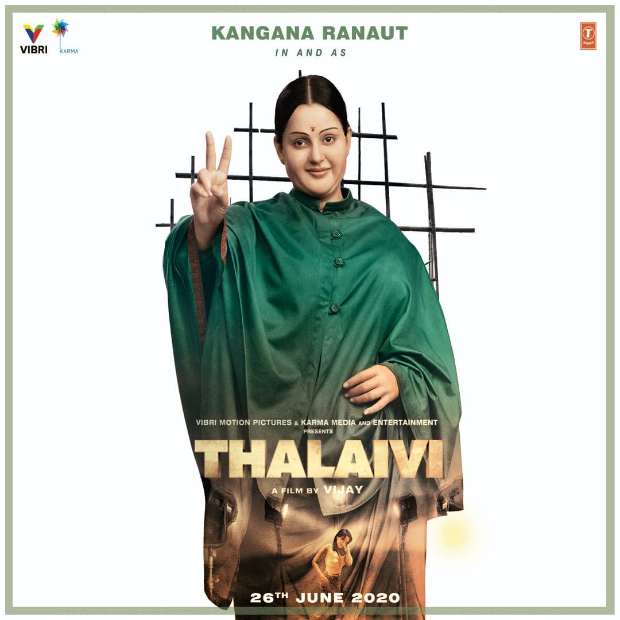 THALAIVI FIRST LOOK: Kangana Ranaut transforms herself into late Jayalalithaa, film to release on June 26, 2020