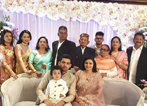 Kangana Ranaut's brother gets engaged in a grand ceremony in Chandigarh
