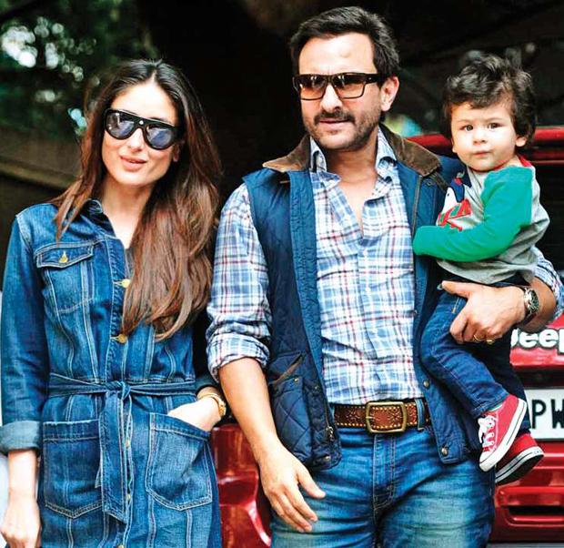 Taimur Ali Khan enjoys a glass of lemonade as he chills with parents Saif Ali Khan and Kareena Kapoor Khan