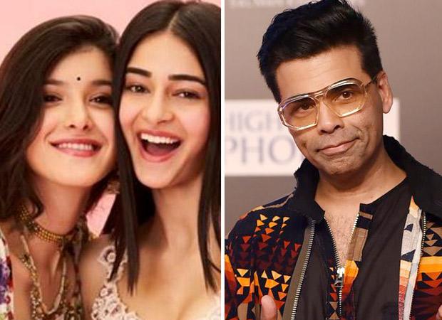 Karan Johar Strikes A Pose With His Favourite 'millennials' Ananya Panday And Shanaya Kapoor