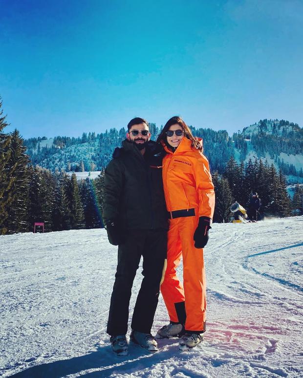Virat Kohli, Anushka Sharma enjoy white Christmas in Switzerland