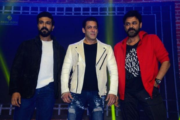 WATCH VIDEO: Salman Khan grooves with Ram Charan and Venkatesh on 'Munna Badnaam Hua'