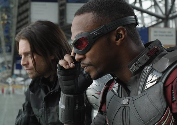 Leaked photos of Anthony Mackie and Sebastian Stan from Marvel's Falcon and The Winter Soldier reveal their new suits