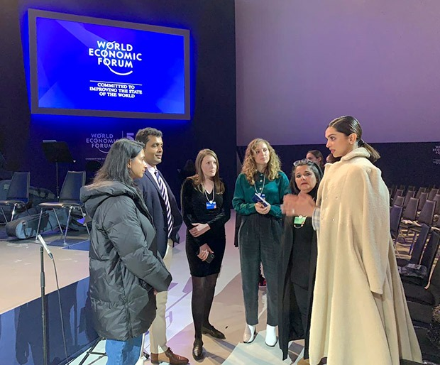 Deepika Padukone spotted at the rehearsals for World Economic Forums Crystal Awards at Davos
