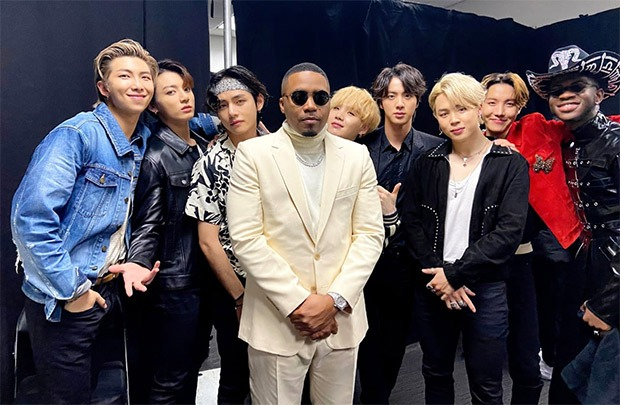 grammys 2020 nas lil nas x and bts in one frame post their old town road performance is god tier content bollywood news bollywood hungama grammys 2020 nas lil nas x and bts in