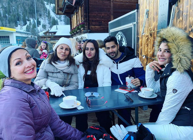 Jacqueline Fernandez and Varun Dhawan get together for the first lunch of 2020 in Gstaad, Switzerland!