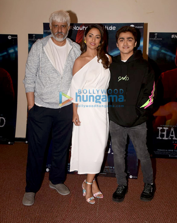 Photos Hina Khan, Rohan Shah and Vikram Bhatt snapped promoting their film Hacked (1)