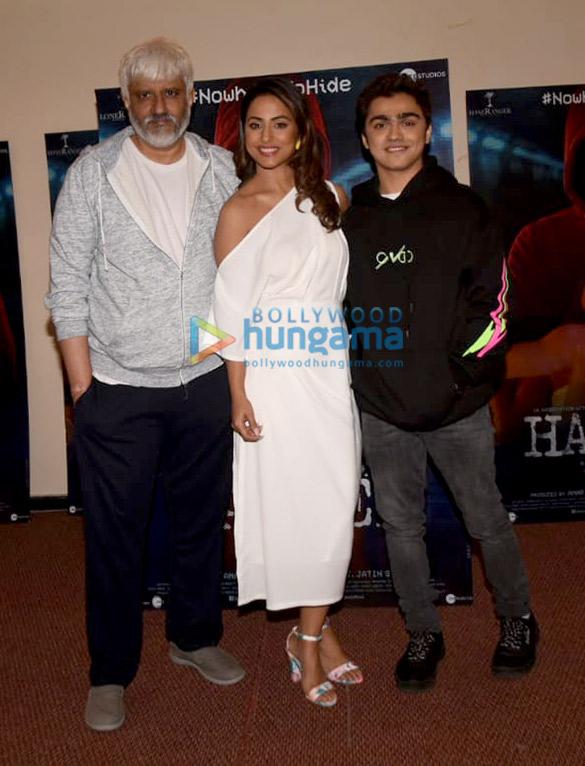 Photos Hina Khan, Rohan Shah and Vikram Bhatt snapped promoting their film Hacked (2)