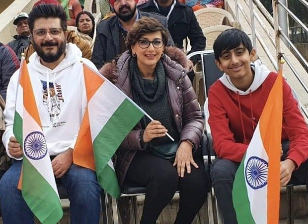 On New Year, Sonali Bendre, Goldie Behl and son Ranveer visit Wagah border