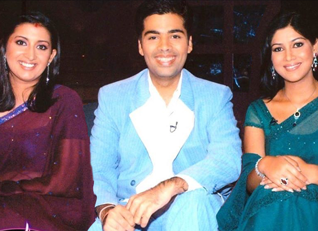 Karan Johar chooses grinning over pouting in this unmissable throwback photo shared by Smriti Irani