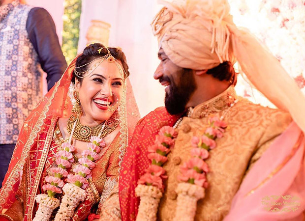 Kamya Punjabi looks like the quintessential Indian bride as she dresses up in red for her wedding with Shalabh Dang