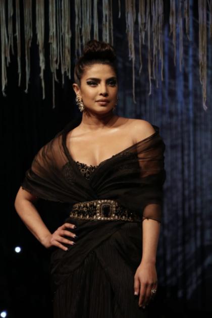 Priyanka Chopra hits the ramp in beautiful black gown, pays tribute to Wendell Rodricks at Blenders Pride Fashion Tour 2020
