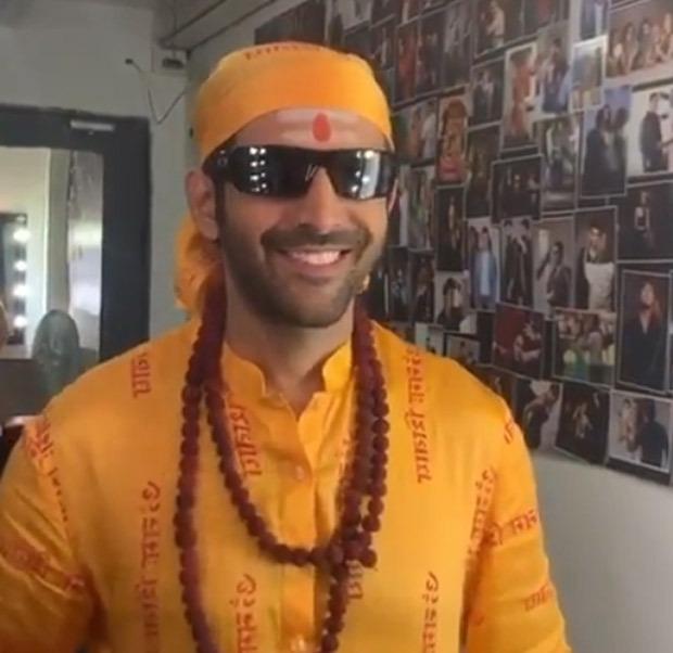 WATCH: Kartik Aaryan croons the title track 'Hare Ram' in godman avatar as Bhool Bhulaiyaa 2 team kickstarts Jaipur schedule