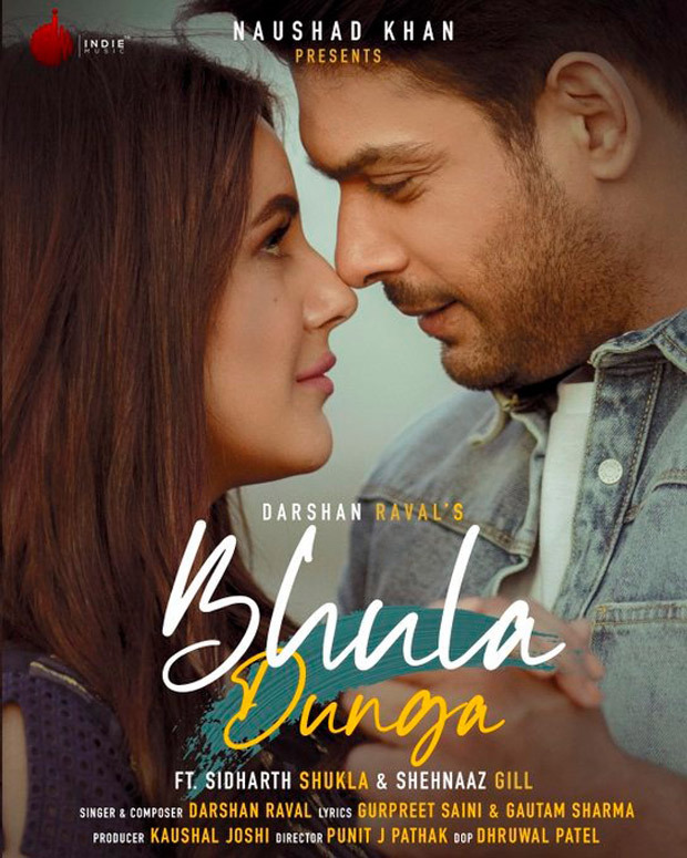 First Look Sidharth Shukla And Shehnaaz Gill Look So In Love In Darshan Raval S Bhula Dunga Song Bollywood News Bollywood Hungama