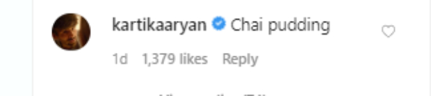 Kriti Sanon tries her hand at making Chia Pudding, Kartik Aaryan calls it Chai Pudding